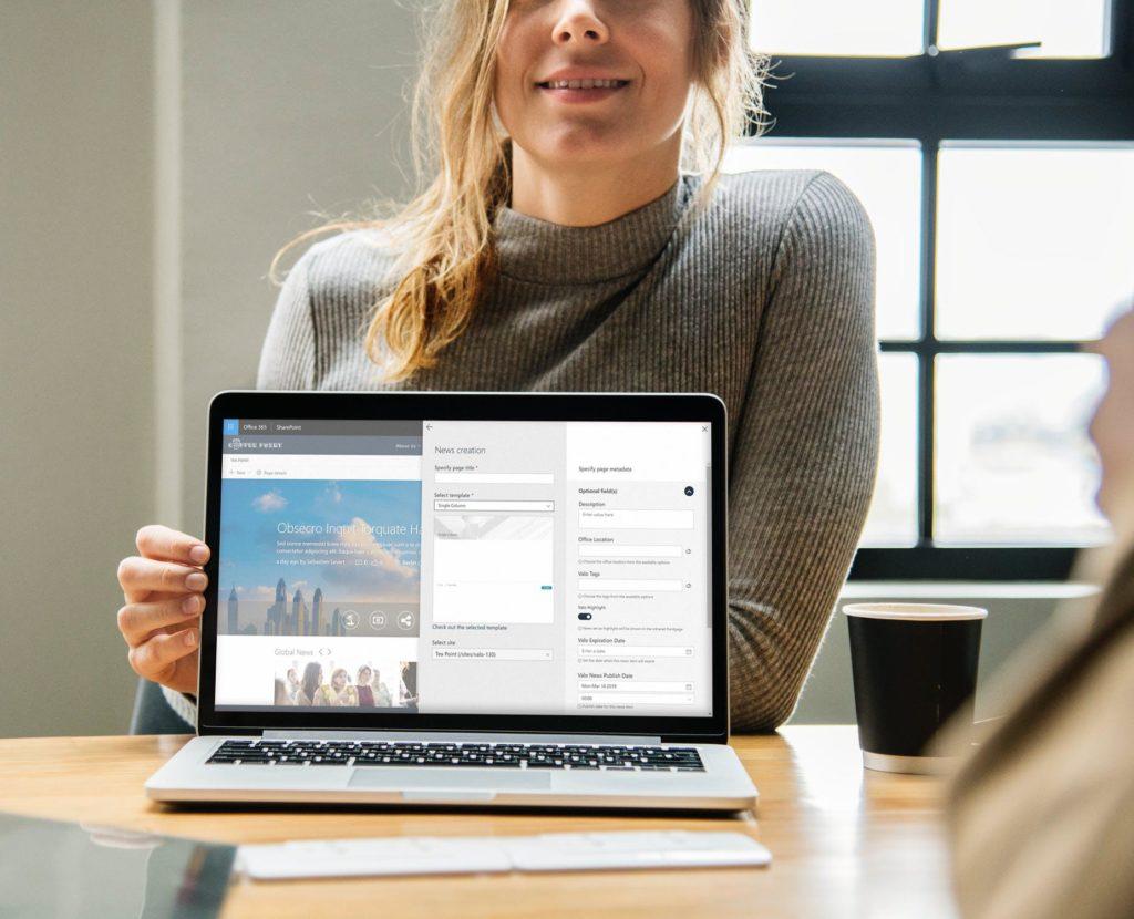 Fügen Sie Metadaten zu Ihren Inhalten hinzu, um die richtige Zielgruppe zur richtigen Zeit zu erreichen. (Valo Modern, Valo Intranet, SharePoint Intranet, Office 365)