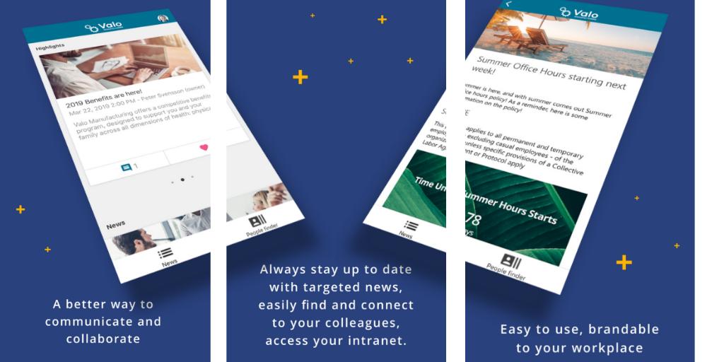 Valo Mobile App - Digital Workplace - Valo Intranet